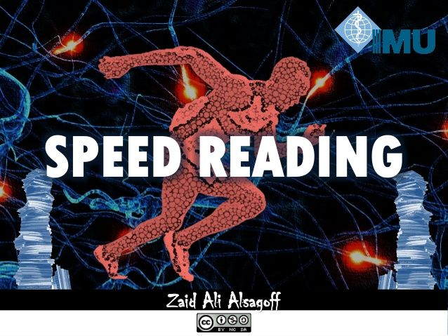 Speed Reading at the International Medical University (IMU)! by Zaid Alsagoff via slideshare
