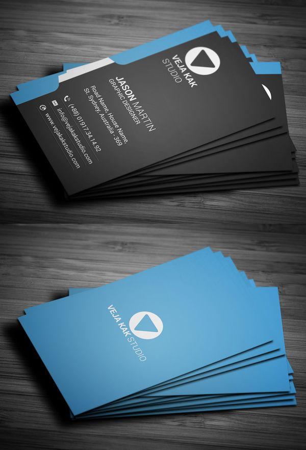 Modern Vertical Business Card Business Cards Design Business Card Design Inspiration