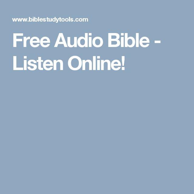 Free Audio Bible - Listen Online!