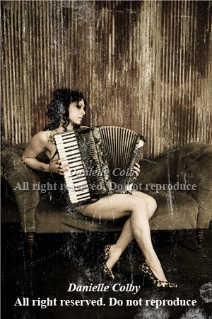Accordian Autographed Burlesque Photo by daniellecolby on Etsy, $10.00