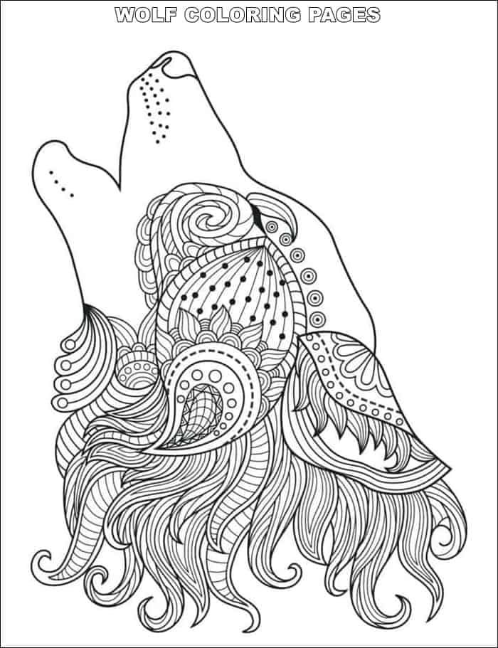 Wolf Dream Catcher Coloring Pages Dream Catcher Coloring Pages Mandala Coloring Pages Wolf Colors