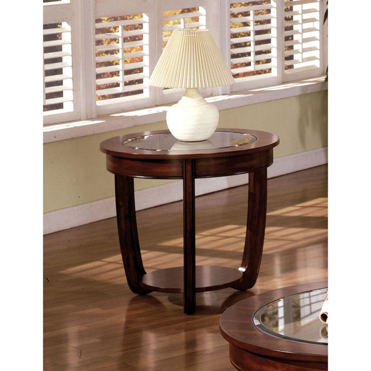Furniture of America Curve Dark Cherry End Table - Overstock Shopping - Great Deals on Furniture of America Coffee, Sofa & End Tables $171