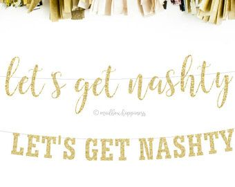 Nashville Bachelorette, Bachelorette Decor, Nashville Bridal Shower, Hen Party, Girls Night, Bachelorette Favor, Gold Glitter Banner