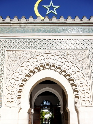"""Main Door of the Paris Great Mosque, Paris, France, Europe""=>"