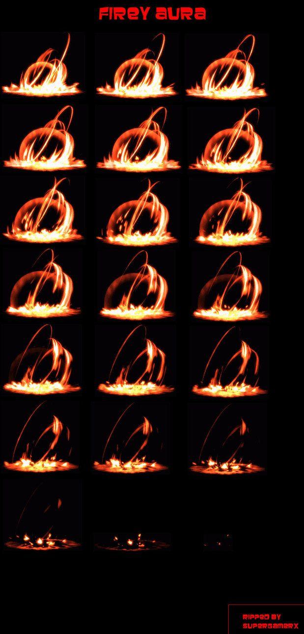 Firey Aura Sprite Sheet by supergamerX on deviantART