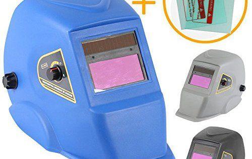 Linxor France ® Masque de soudure automatique 9 à 13 DIN + 2 Verres des protection – Trois coloris – Normes EN379 et EN175: MARQUE…