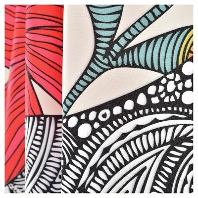 "Valentina Ramos Clementine Shower Curtain Red/Animal (71""x94"") - Deny Designs, Multicolored Red"