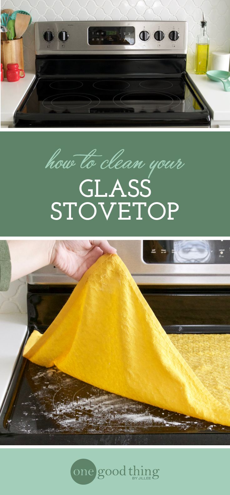 If you're looking for an easy way to clean your glass stovetop, look no further! This method is simple, quick, and leaves a great shine!