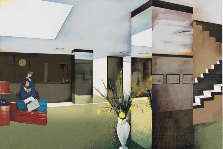 Richard Hamilton , Lobby, 1984, Col·lotip i serigrafia sobre paper, 42,8 x 58,3, cm