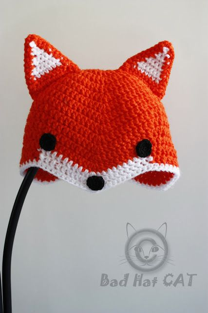 Bad Hat Cat: FOX Hat, Crochet Fox Hat, Toddler Fox Hat, Child F...