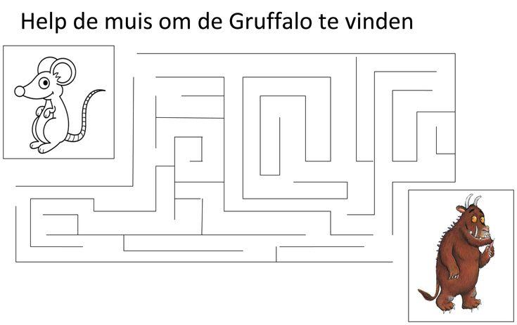 Werkblad fijne motoriek: De Gruffalo