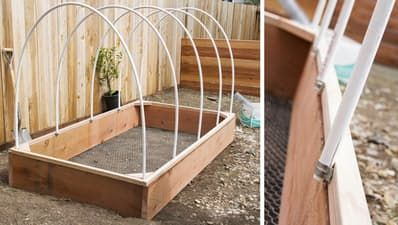 DIY Covered Greenhouse Garden: A Removable Cover Solution to Protect Your Plants — Apartment Therapy Tutorials | Apartment Therapy