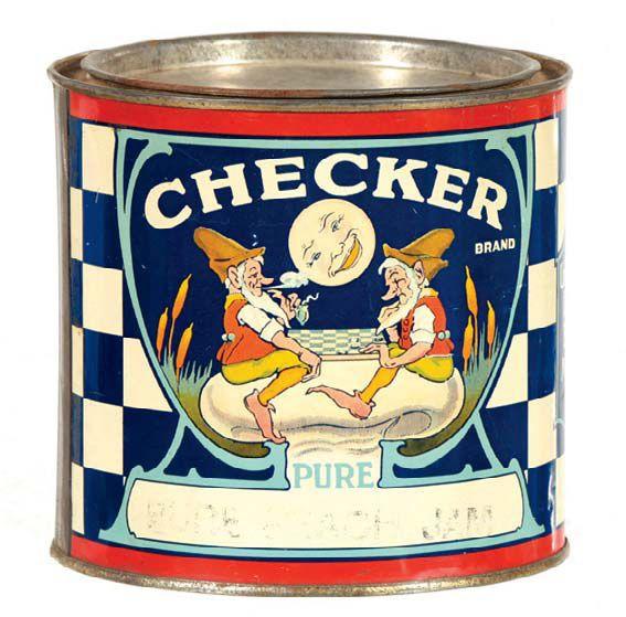 CHECKER brand JAM Tin 4 lb. (United Farmers Co-Operative, Mission City, B.C., Canada)