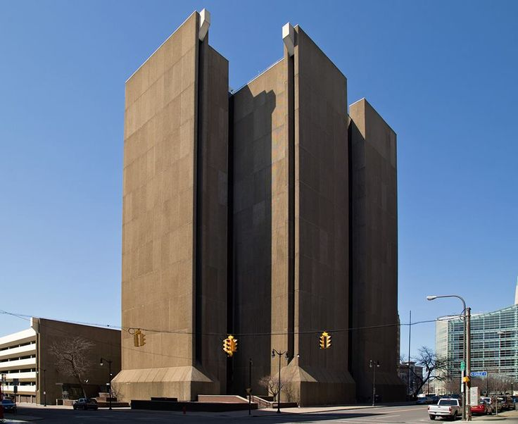 Buffalo's City Court Building is the epitome of Brutalism (c.1974)