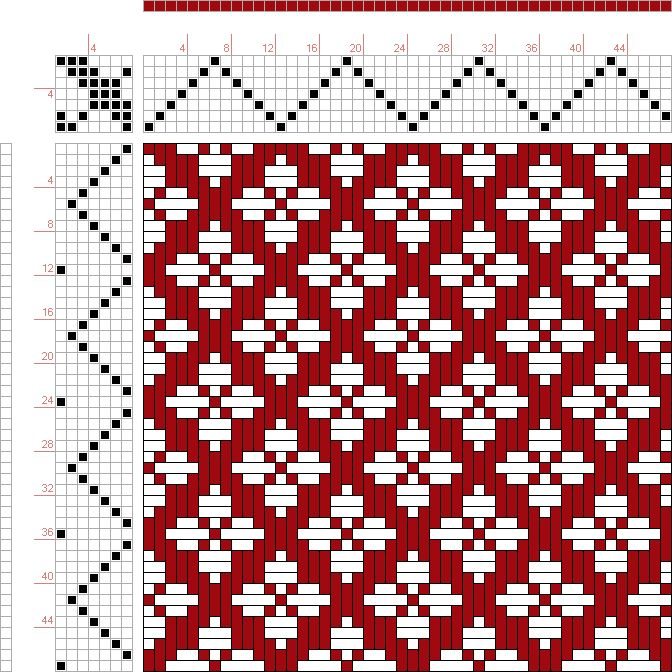 Weaving Draft Page 122, Figure 38, Donat, Franz Large Book of Textile Patterns, Germany, 1895, #26715