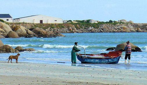 Locals fishing at Paternoster.