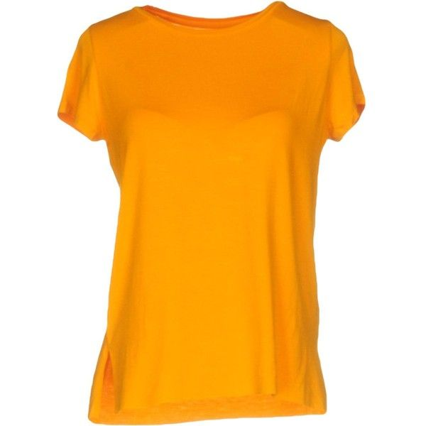 Majestic T-shirt (130 CAD) ❤ liked on Polyvore featuring tops, t-shirts, orange, pocket tees, orange top, rayon t shirts, short sleeve tops and orange t shirt