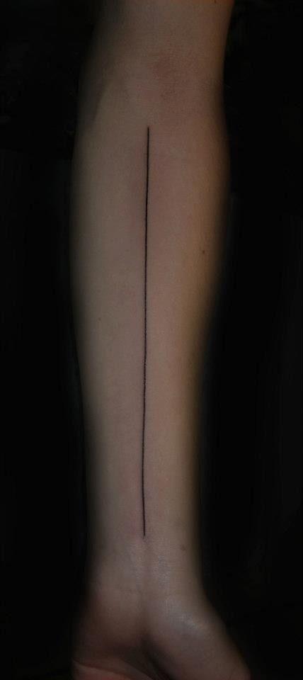 #tattoo straight line
