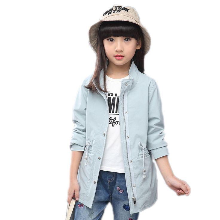 29.66$  Watch here - http://ali6o4.shopchina.info/1/go.php?t=32814134489 -  Kids Girls Jacket 2017 Girls Trench Coat Autumn Children Long Coat Kids Girls Solid Jackets and Coats Teenage Girls Outwear  #aliexpresschina