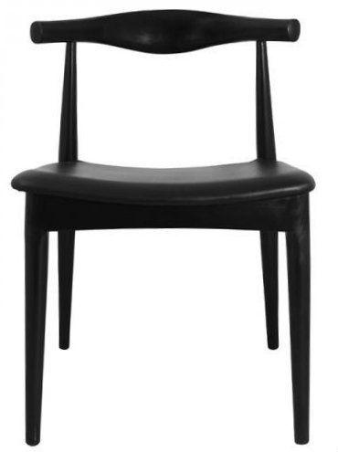 Replica Hans Wegner Elbow Chair - Black $189