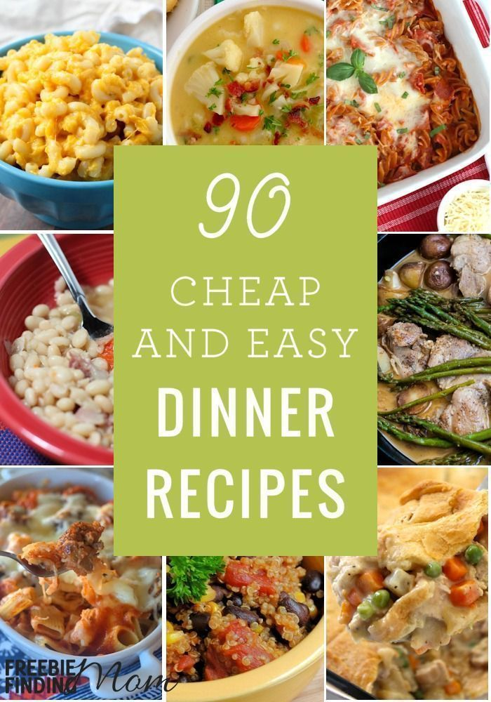 Need cheap and easy family meals? Here are 90 Cheap Quick Easy Dinner Recipes that will help you get a delicious and nutritious budget friendly meal on the table fast. You�ll find recipes using ground beef, quick healthy turkey recipes, quick vegetarian r