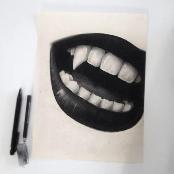 fangs. For more illustrations: https://nl.pinterest.com/Unicornspark/