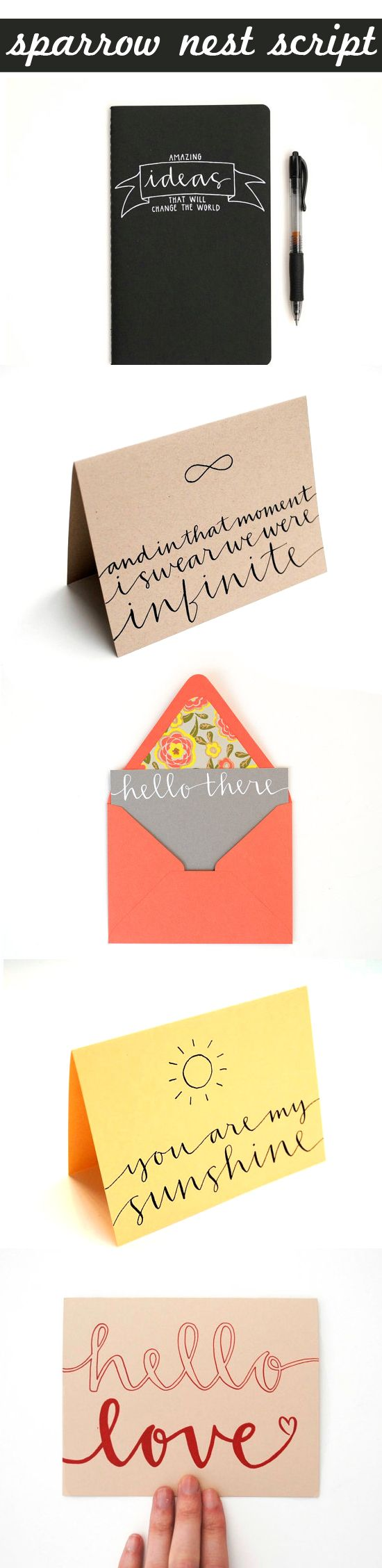 sparrow nest script cards inspired to share. use the font to practice writing