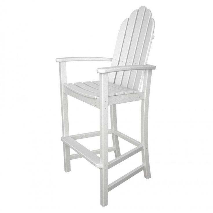 Cool White PolyWood Adirondack Bar Height Chair ~ http://lanewstalk.com/the-rustic-adirondack-chair/