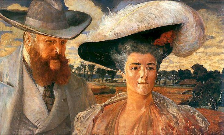 Jacek Malczewski - Portrait of Margaret and Charles Lanckoronski