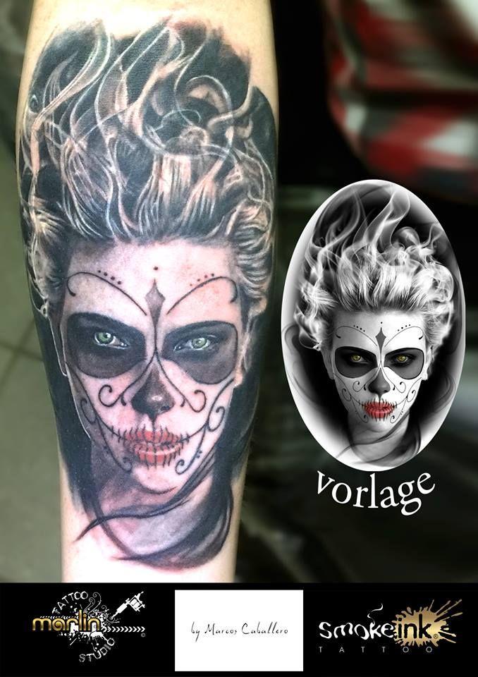 Scarlett cartoon smoke ink ® tattoo by Marlin Tattoo Studio Essen