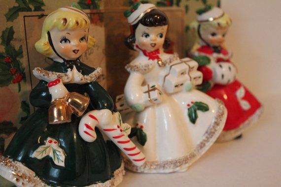 Vintage Christmas Figurines Original Boxed Set of by TalesofTime, $120.00