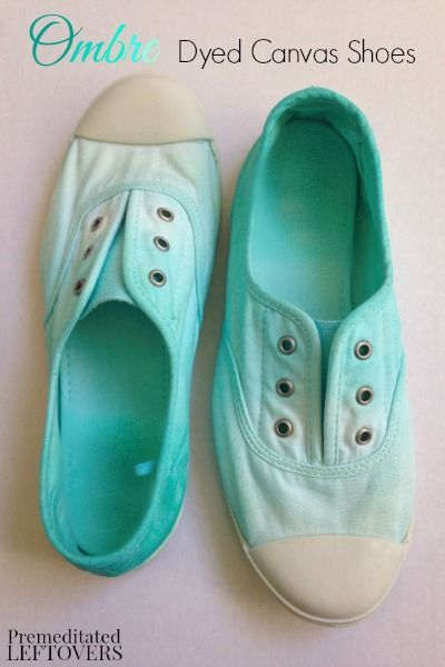 DIY Ombre Dyed Canvas Shoes - Here is a easy to follow tutorial for dying your own DIY ombre dyed canvas shoes, plus instructions for adding sparkles.