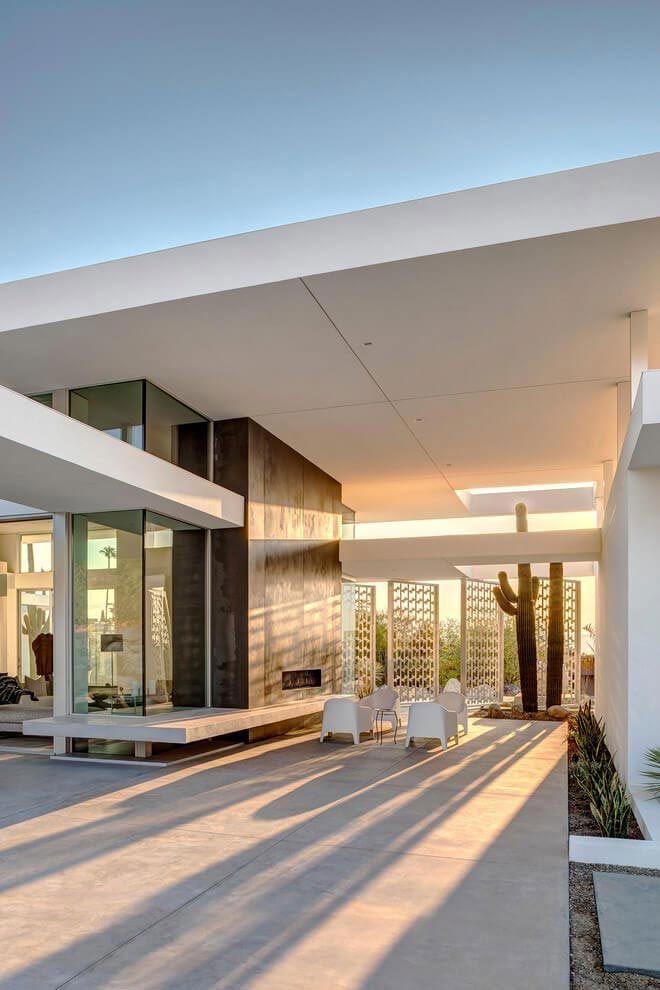 House in Palm Springs, California built by Cioffi Architect, via @HomeDSGN