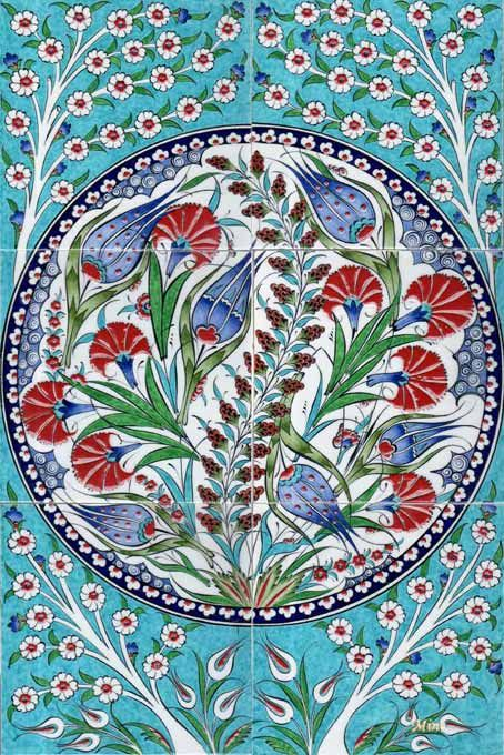Ottoman Traditional Turkish Tiles Art Osmanlı Çini Karo Panola rı Turkey   40-60
