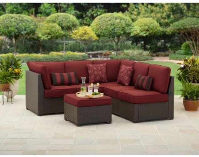 Outdoor Patio Sectional Sofa Set 3 Pc Wicker Furniture Deep Seating