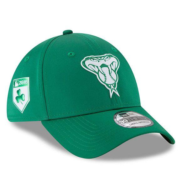 Men s Arizona Diamondbacks New Era Green 2018 St. Patrick s Day Prolight  39THIRTY Flex Hat 6437b34443b9