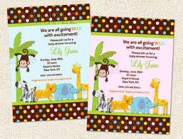Resultado de imagen para invitaciones baby shower animalitos de la selva