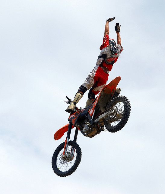 Motorcross rider performing a freestyle stunt. I have always wanted to photograph motorcross. Please check out my website thanks.  www.photopix.co.nz