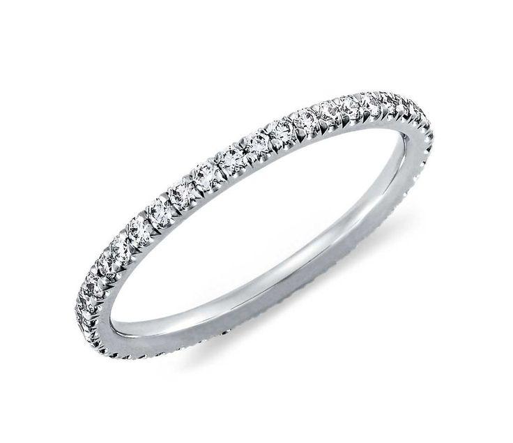 Classic & Elegant 2TCW Micro Pave Russian Lab Diamond Wedding Band Stacking Ring - Joy of London Jewels