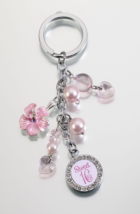 Sweet Sixteen Keychain. Great Gift for Your Sweet Sixteen's Event.  $11.90  www.ceceliasbestwishes.com