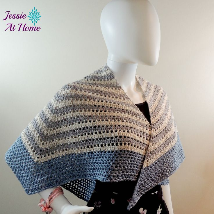 Enjoy some math and keep the chill off with this lovely Four Sixths Wrap made with Kreamer Yarns!