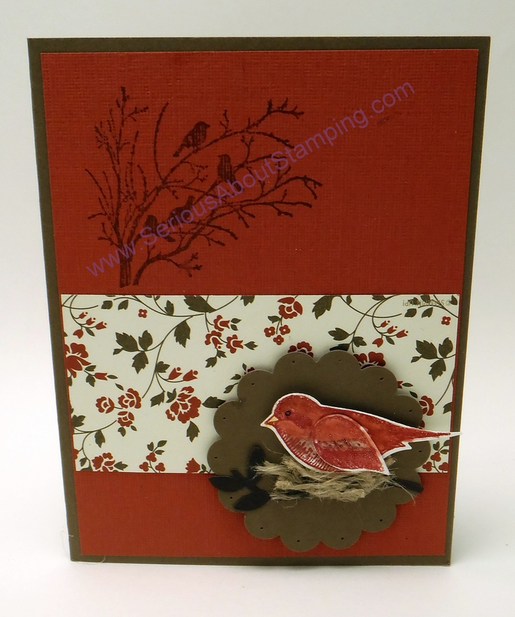 Birds nest card by Charmaine www.SeriousAboutStamping.com