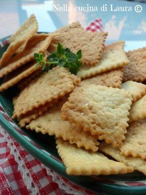 crackers con scarto del lievito madre