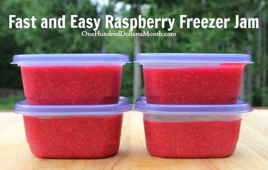 Fast and Easy Raspberry Freezer Jam #recipe