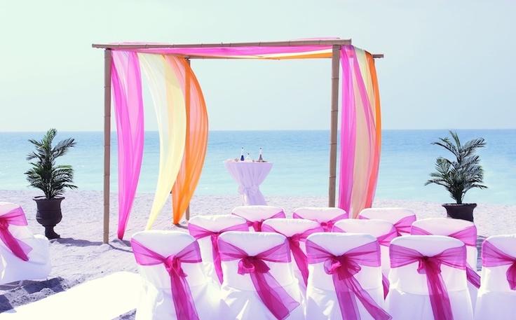 love love love!!!!: Wedding Colors For June, Bright Shades, Orange Pink Yellow Wedding, Beach Weddings, Colors Ideas Hair, Yellow Family Wedding, Bright Beautiful Yellow, June Beaches, Beaches Wedding
