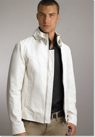 The 25  best White leather jacket mens ideas on Pinterest | Ryan ...
