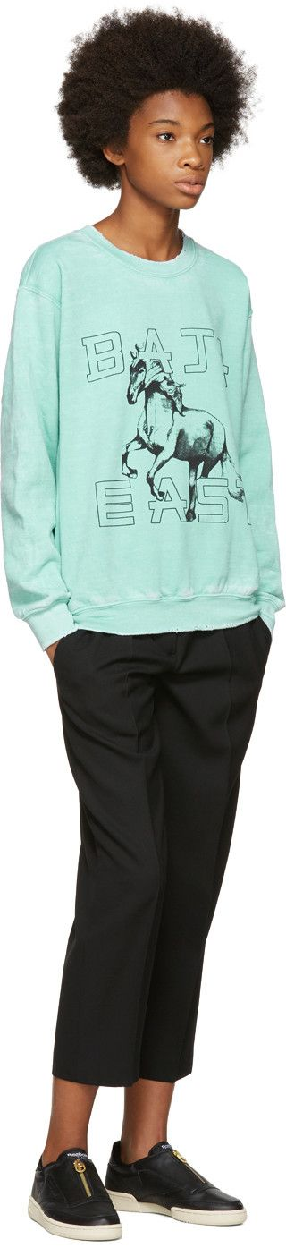 Baja East - Green Horses Sweatshirt