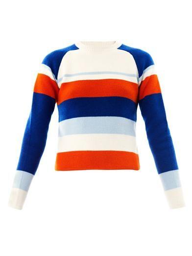 Raglan stripe sweater   J.W. Anderson   MATCHESFASHION.COM