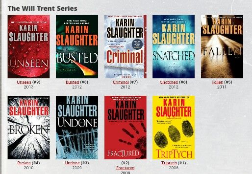The will Trent series by Karin Slaughter