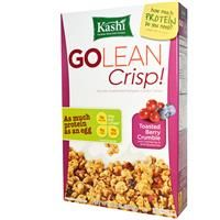 Kashi, GoLean Crisp!, Naturally Sweetened Multigrain Cluster Cereal, Toasted Berry Crumble, 14 oz (397 g) - iHerb.com